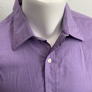 Nicole Miller Men's Long Sleeve purple shirt Sz L